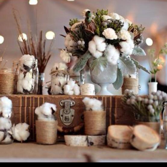 Decoracion Baño Boda:Oui Oui-boda invierno-ramo algodon-decorar con ramas algodon (2)