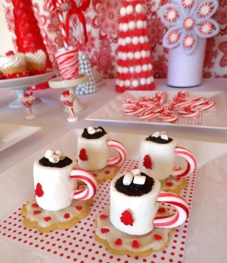 Oui Oui-mesa dulces navidad-blanco y rojo-candy bar navidad (1)