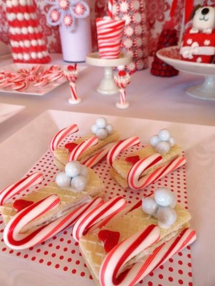 Oui Oui-mesa dulces navidad-blanco y rojo-candy bar navidad (5)