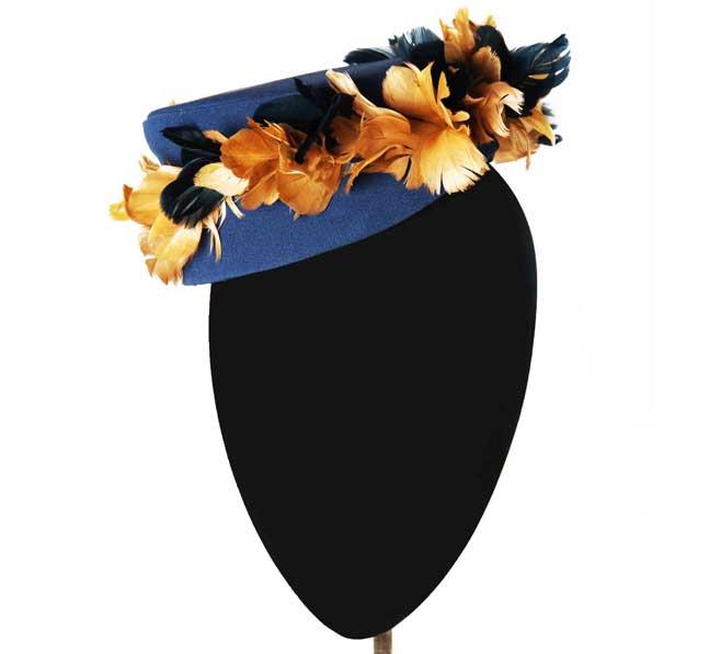 Oui Oui-tocados-boda-invierno-casquete-azul petroleo-plumas-Mimoki