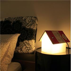 Oui Oui-lampara casa libro mesilla-regalo original dia de la madre-madres lectoras