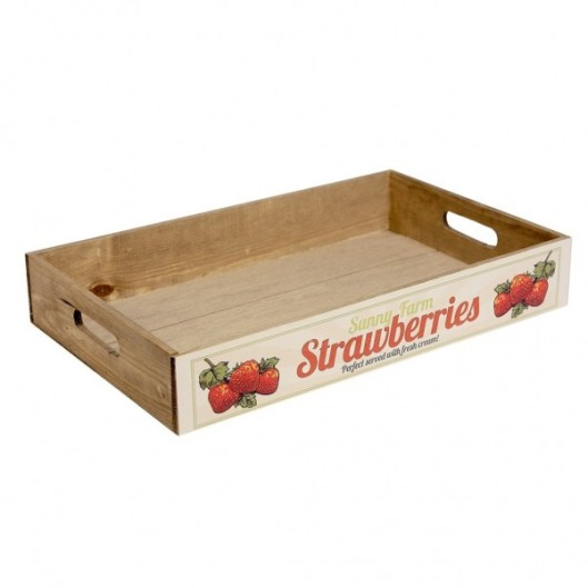 Oui Oui-bandeja-madera-strawberries-vintage