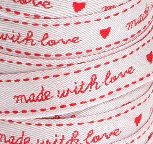 Oui Oui-cinta roja made with love de cerca