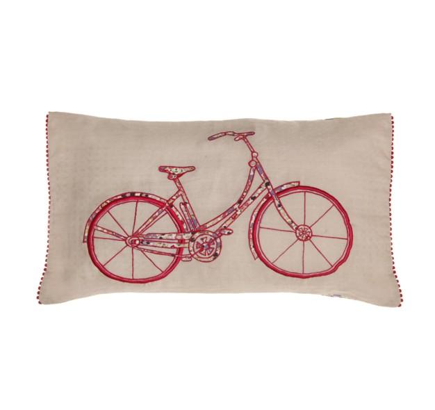 Oui Oui-cojín bicicleta patchwork