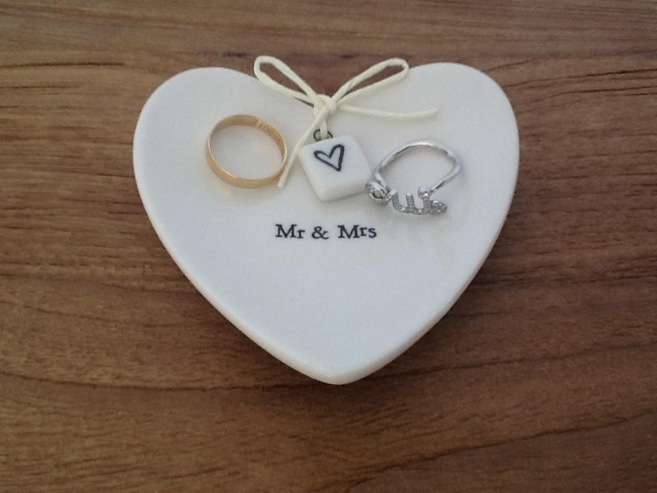 Oui Oui-platito anillos Mr & Mrs
