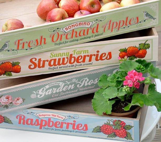 Oui Oui-bandeja madera fruta-fresas