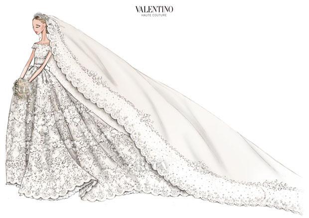 El vestido de novia de Valentino para Magdalena de Suecia   Oui Oui ...