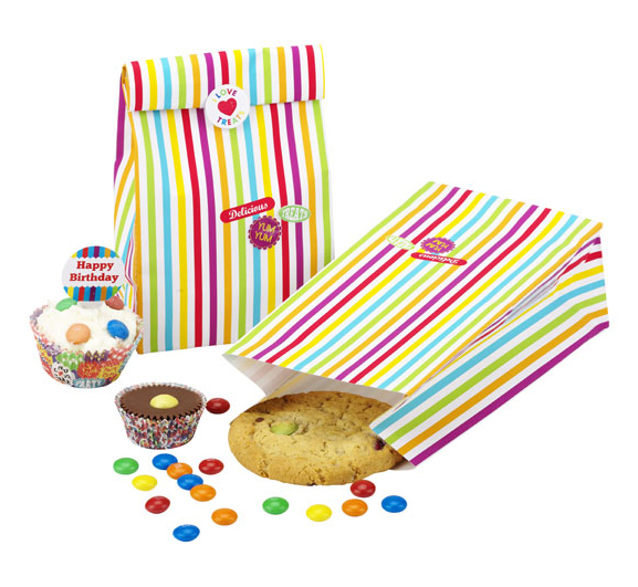 Oui Oui-bolsas chuches rayas colores y pegatinas
