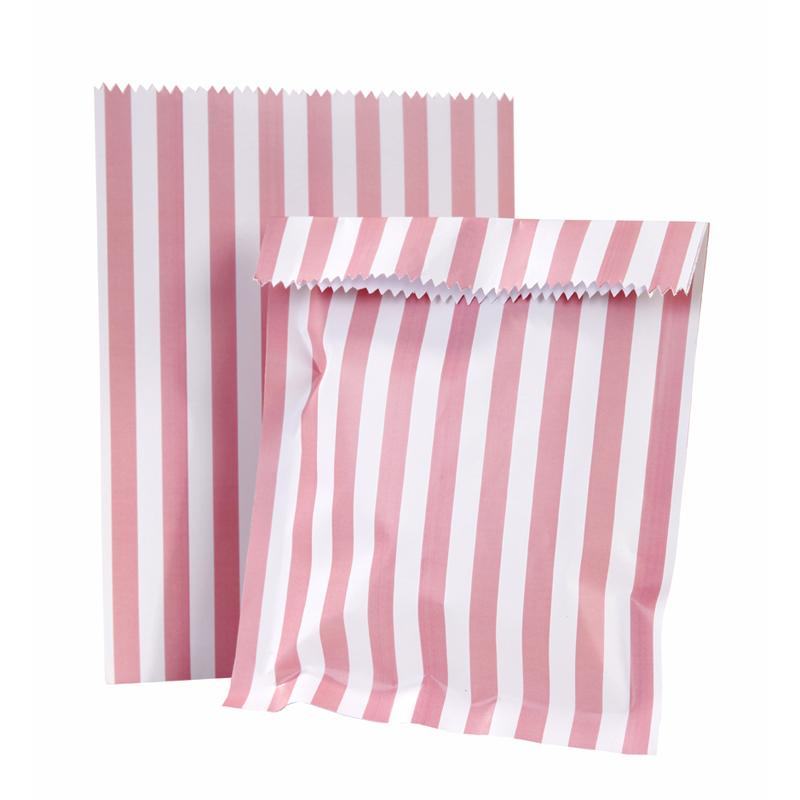 Oui Oui-bolsas chuches rayas rosas con pegatinas