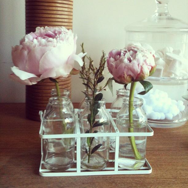 Oui Oui-set lecheras cristal-peonias