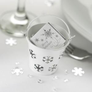 Oui Oui-cubitos metal blancos copos de nieve