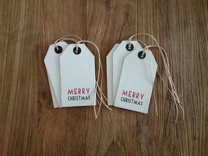 Oui Oui-etiquetas cartón duro MERRY CHRISTMAS