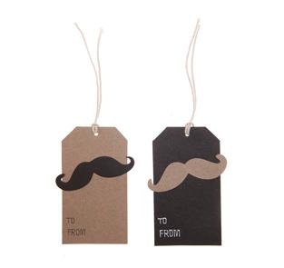 Oui Oui-etiquetas regalo moustache