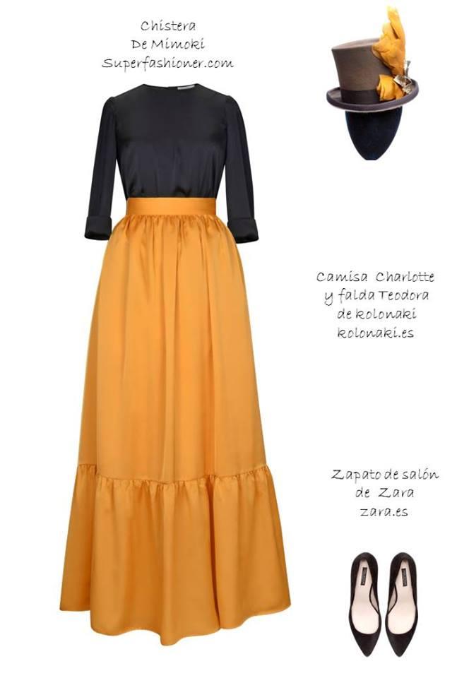 Oui Oui-invitadas de invierno-vestidos boda invierno-kolonaki-amarillo y negro