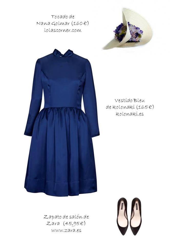 Oui Oui-invitadas de invierno-vestidos boda invierno-kolonaki-vestido azul electrico corto