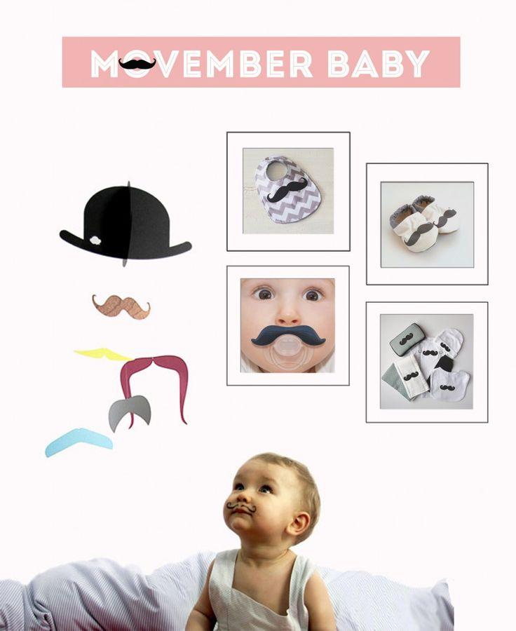 Oui Oui-movember-tipos de bigote-moustache-cosas con forma de bigote-bebes con bigote