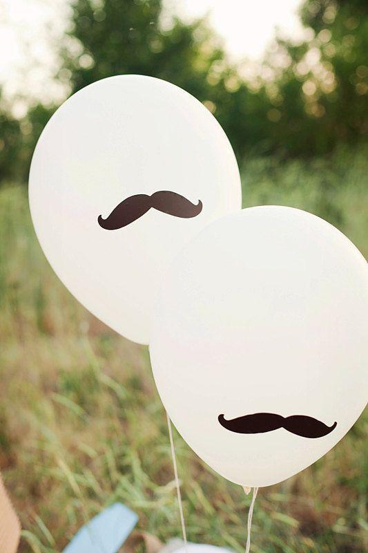 Oui Oui-movember-tipos de bigote-moustache-cosas con forma de bigote-globos bigote