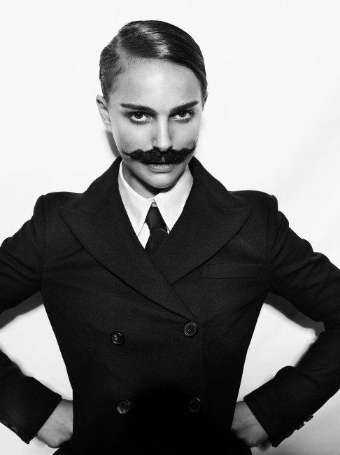 Oui Oui-movember-tipos de bigote-moustache-cosas con forma de bigote-natalie portaman con bigote