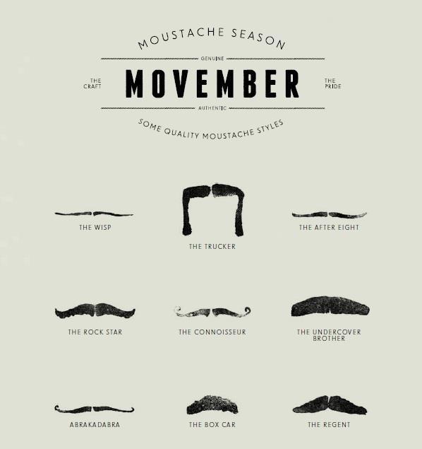 Oui Oui-movember-tipos de bigote-moustache-cosas con forma de bigote