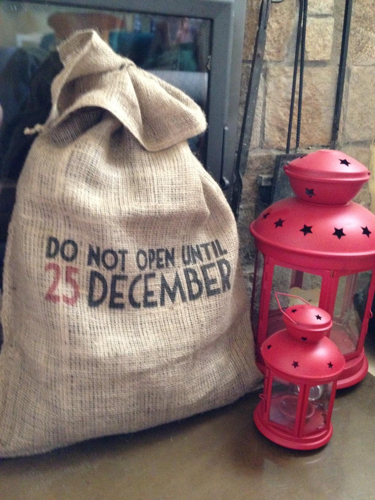 Oui Oui-saco regalos no abrir antes dia 25