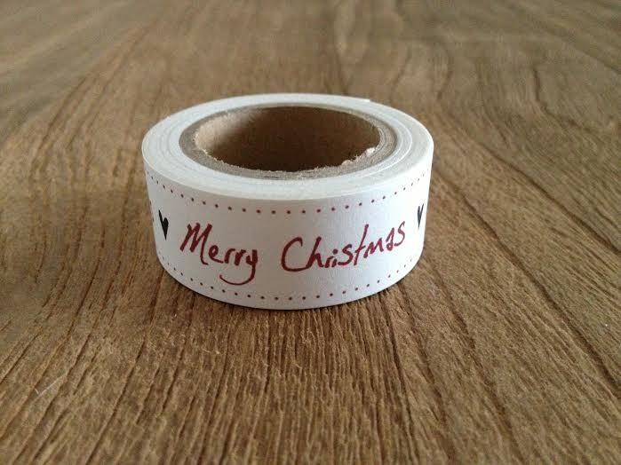 Oui Oui-washi tape blanco-merry christmas