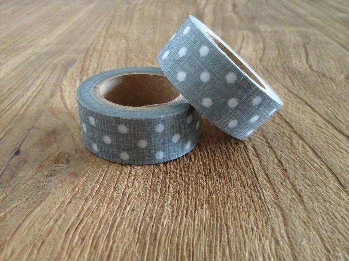 Oui Oui-washi tape gris lunares