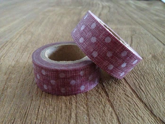 Oui Oui-washi tape rojo lunares