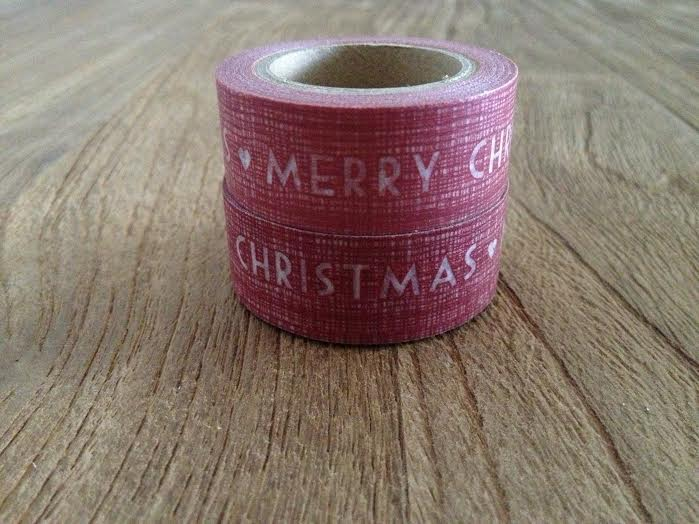 Oui Oui-washi tape rojo-MERRY CHRISTMAS