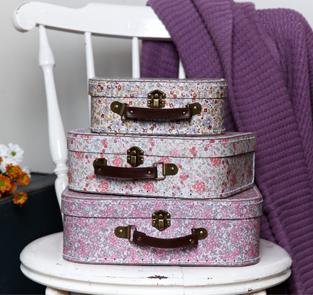 Oui Oui-set maletas flores liberty