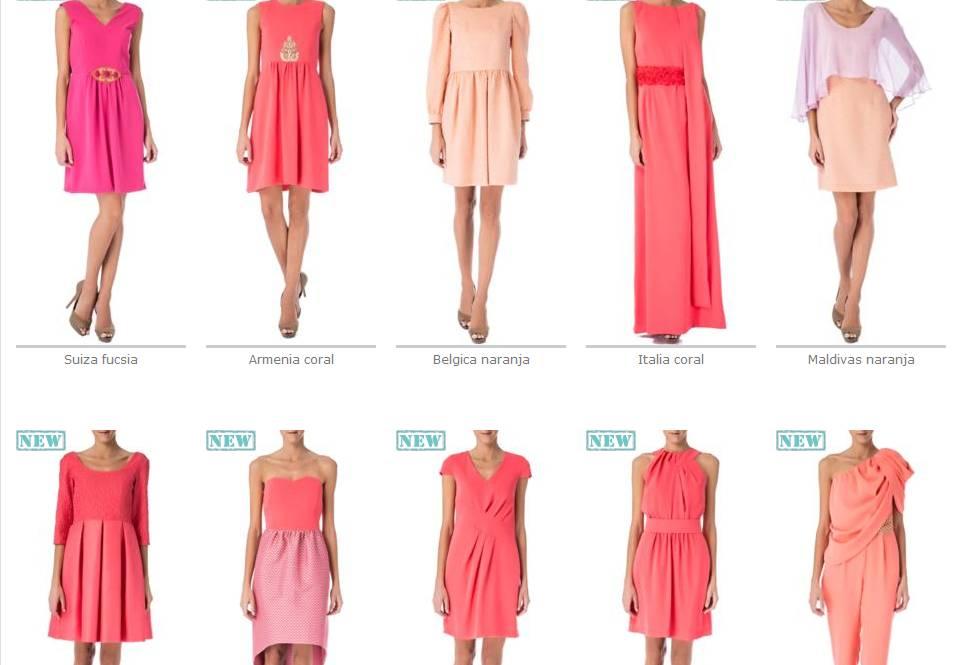 Oui Oui-david christian-primavera verano 2013-vestidos coral-naranja-rosa