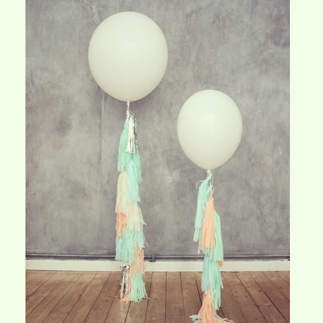Oui Oui-globos con tiras de papel.tassel globos-tassel ballons