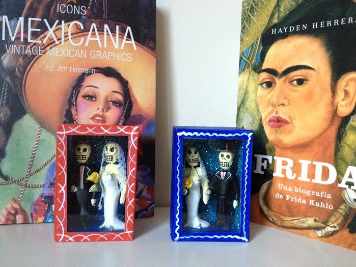 Oui Oui-regalo novios-mini altar novios mexicanos-novios calaveras-boda estilo mexicano
