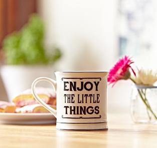 Oui Oui-taza enjoy the little things-tazas desayuno originales-regalo diferente para desayuno