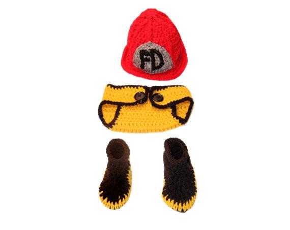 Oui Oui-disfraces originales para bebés-niños-bombero-regalo original bombero