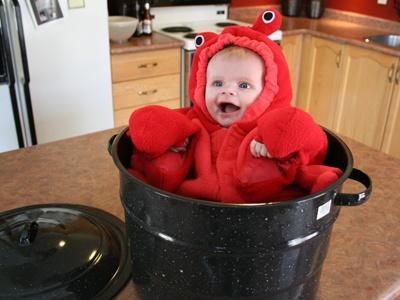 Oui Oui-disfraces originales para bebés-niños-langosta