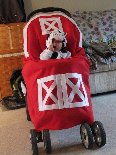 Oui Oui-disfraces originales para bebés-vaca y establo