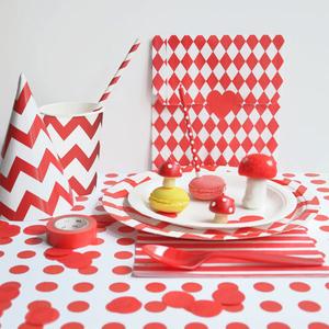 Oui Oui-mesa chevron rojo san valentin2