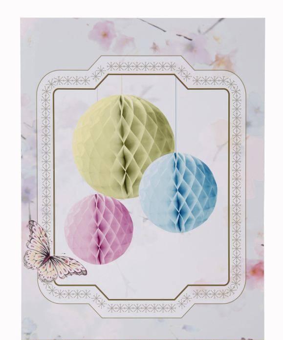 Oui Oui-set 3 honeycomb-bolas nido abeja-PASTEL