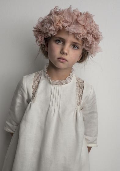 Oui Oui-vestido comunión diferente-túnica-lino-chic-labube