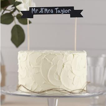 Oui Oui-topper tarta cartel pizarra personalizable