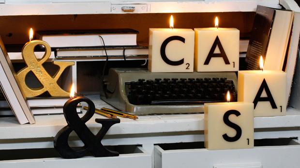 Oui Oui-velas letras scrabble-decorar con scrabble-fichas scrabble boda-CASA