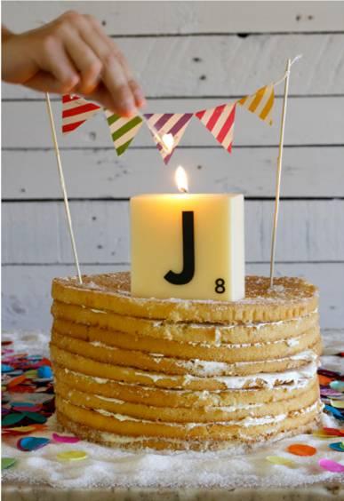 Oui Oui-velas letras scrabble-decorar con scrabble-fichas scrabble boda-J-topper tarta scrabble