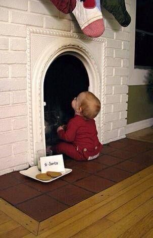 Oui Oui-ideas foto navidad bebe-niño con chimenea