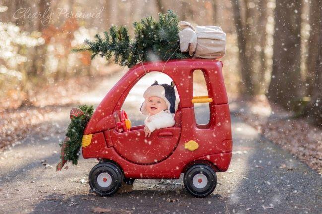 Oui Oui-ideas foto navidad bebe-niño
