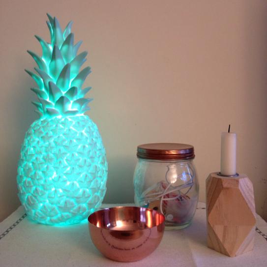 Oui Oui-piña colada lamp-goodnight light-lampara piña