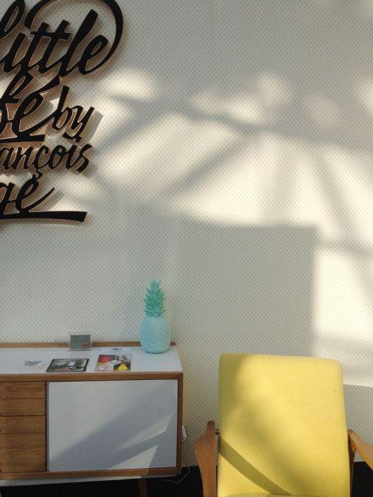 Oui Oui-piña colada lamp mint-lampara piña mint decoration
