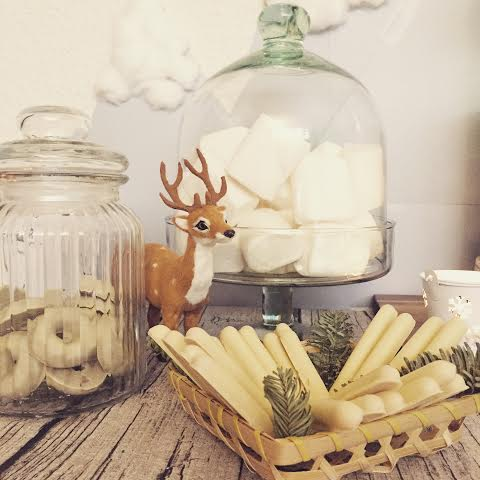 Oui Oui-babyshower de invierno-winter baby shower-baby shower esquí-mesa dulces chocolate blanco