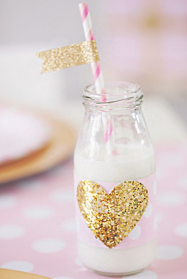 Oui Oui-fiesta rosa y dorado-candy bar rosa y dorado-pajitas