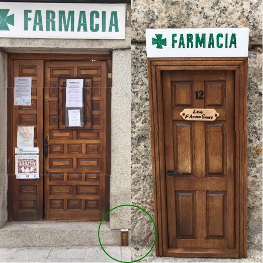 Oui Oui-puerta ratocnito Pérez-farmacia Lozoya con fachada