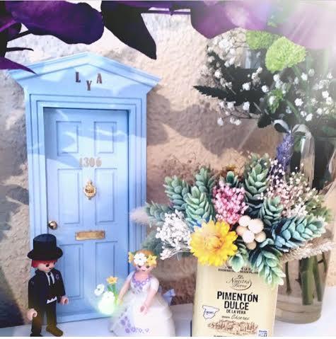 Oui Oui-puerta ratoncito pérez-boda-victoriana azul bebé